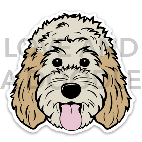 Happy Dood Sticker - Cream 2