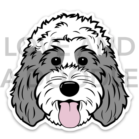 Happy Dood Sticker - Gray 3