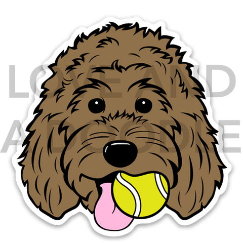 Playful Dood Sticker - Brown 1