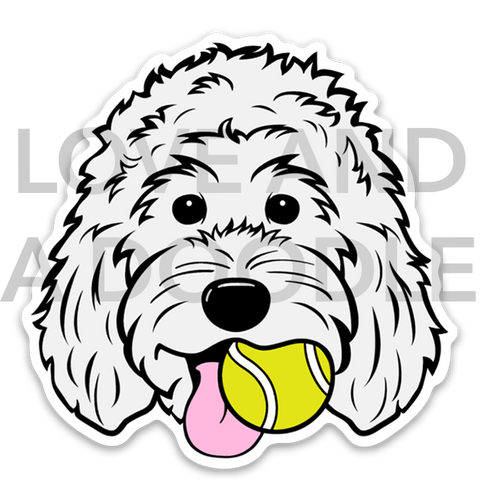 Playful Dood Sticker - White