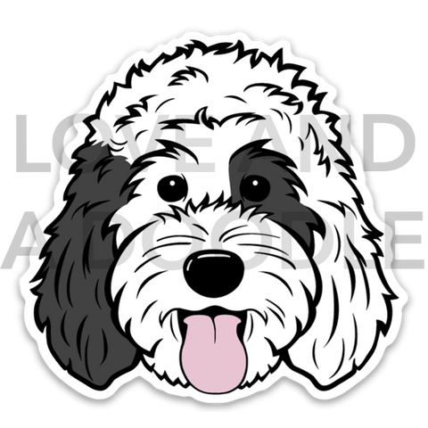 Happy Dood Sticker - Sheepadoodle 3