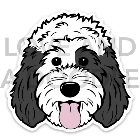 Happy Dood Sticker - Sheepadoodle 1