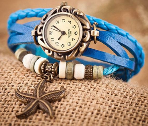 Starfish Beach Bracelet Watch