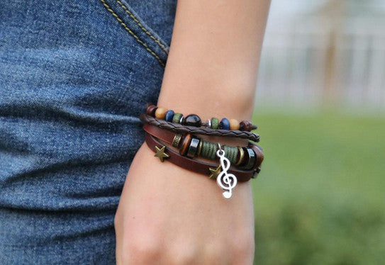 Musical Note Starred Bracelet