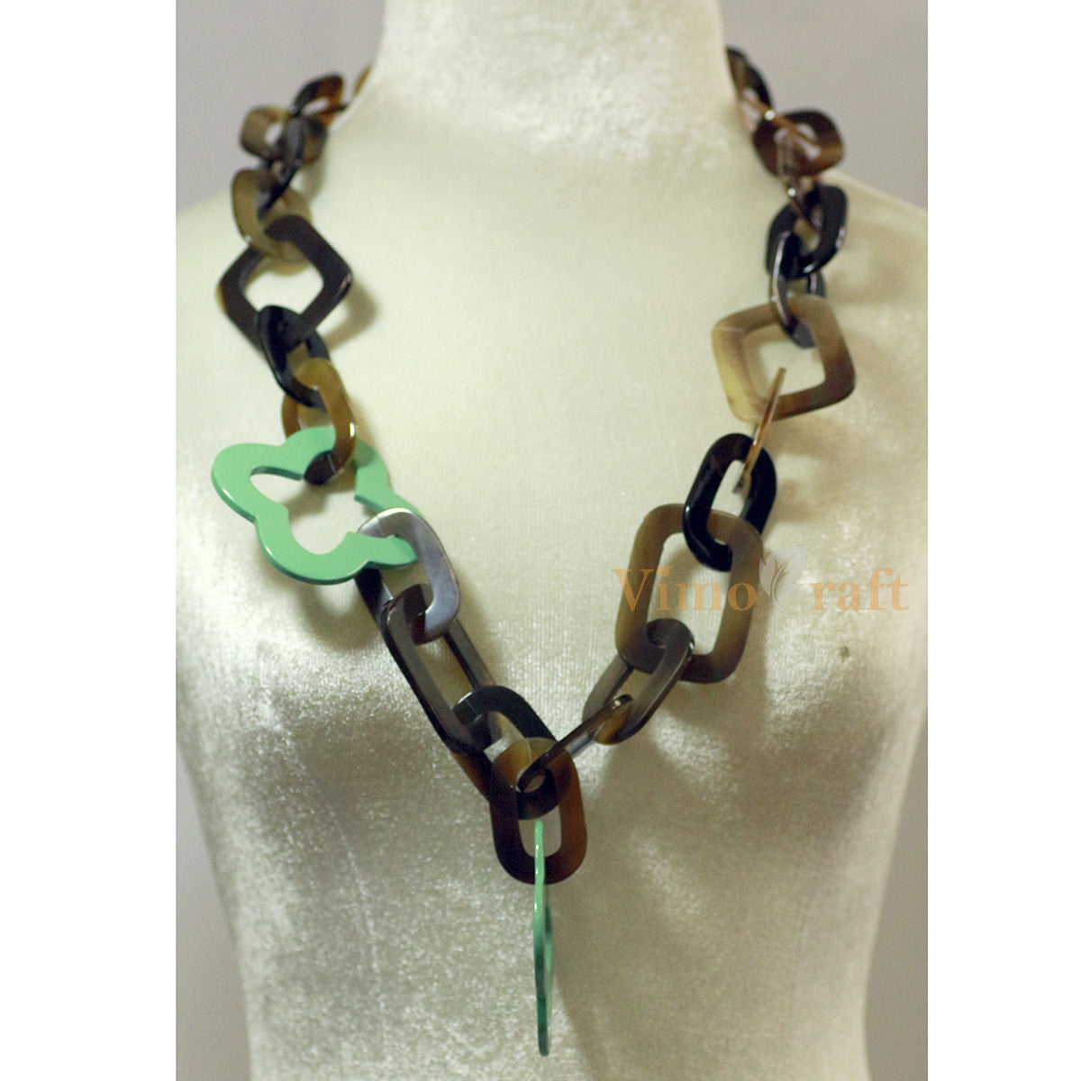 Horn &Amp; Lacquer Chain Necklace   Vcsm 02