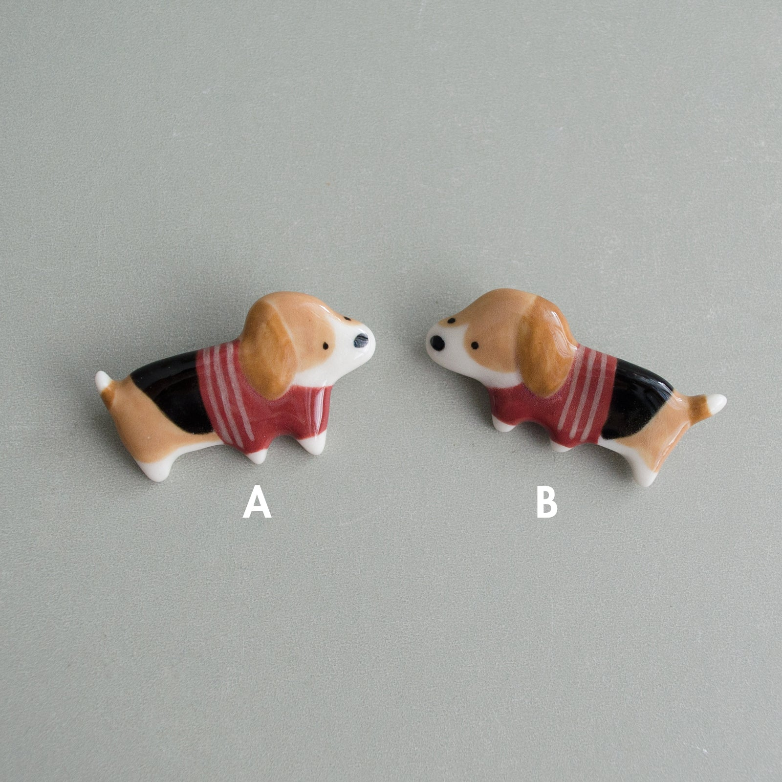 Plum Sweater Beagle Brooch