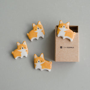 Curious Corgi Brooch