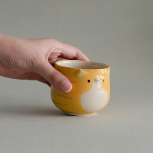 Apricot Kitty Tea Cup