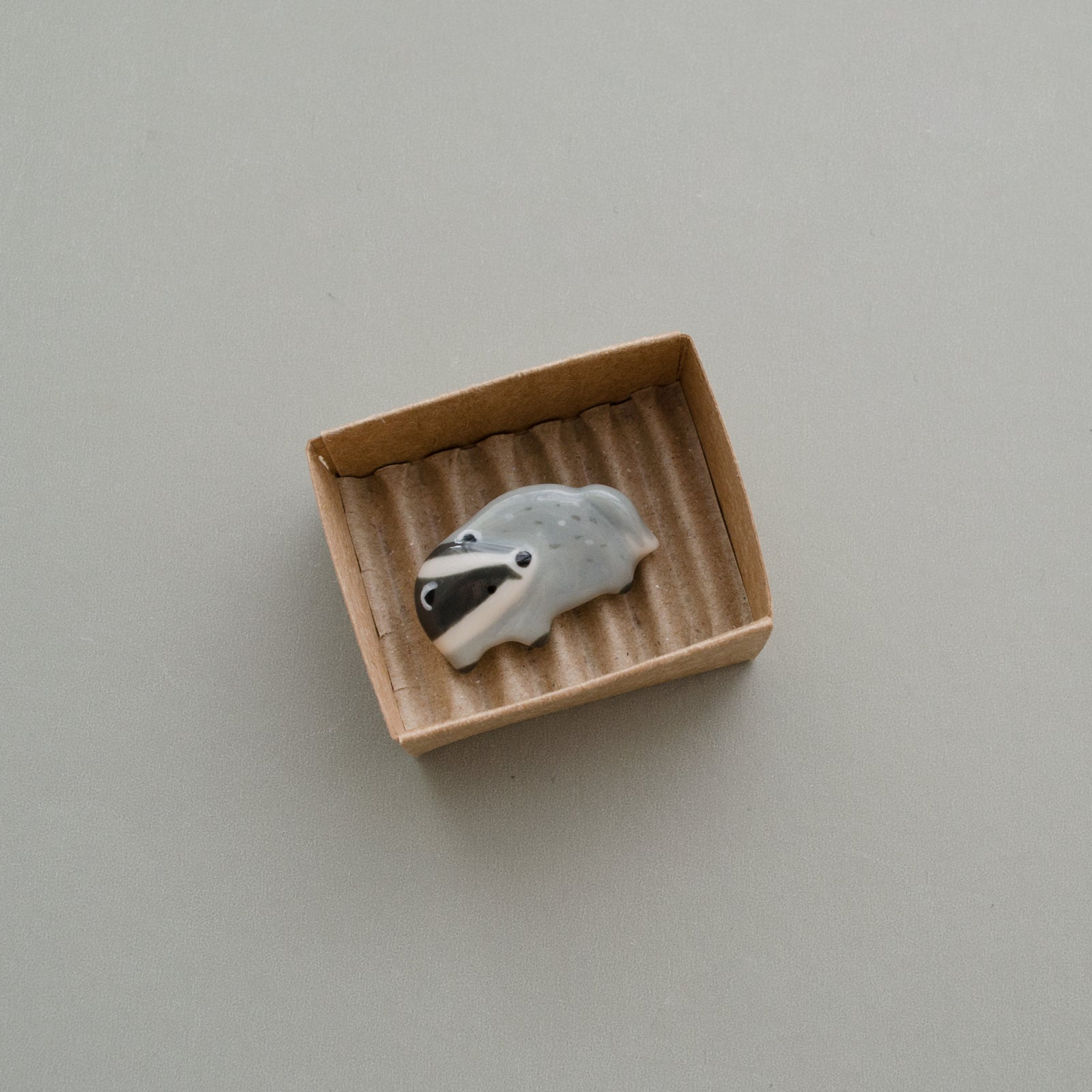 Madge the Badger Brooch