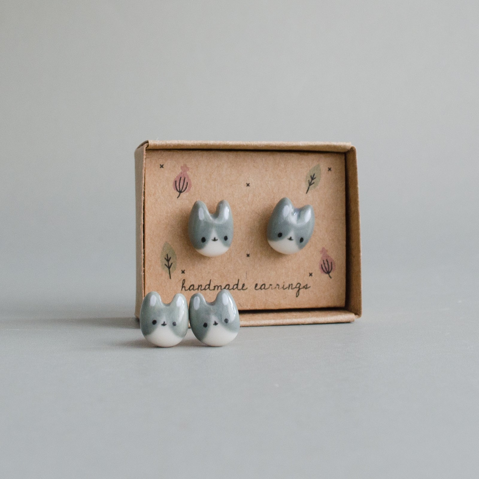 Dusty Bunny Stud Earrings