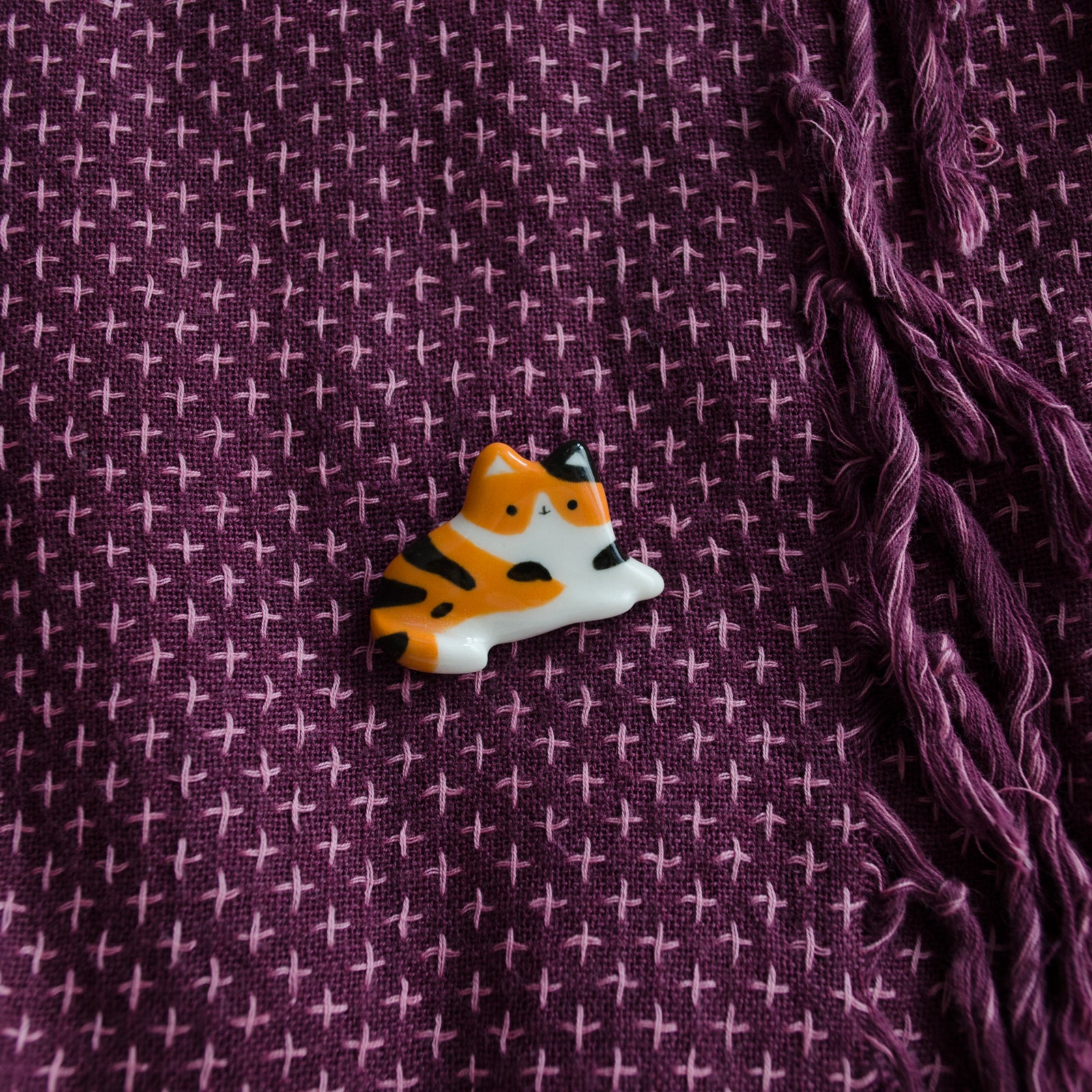Calico Cat Brooch