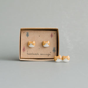 Tiny Tabby Stud Earrings