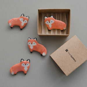Standing Fox Brooch