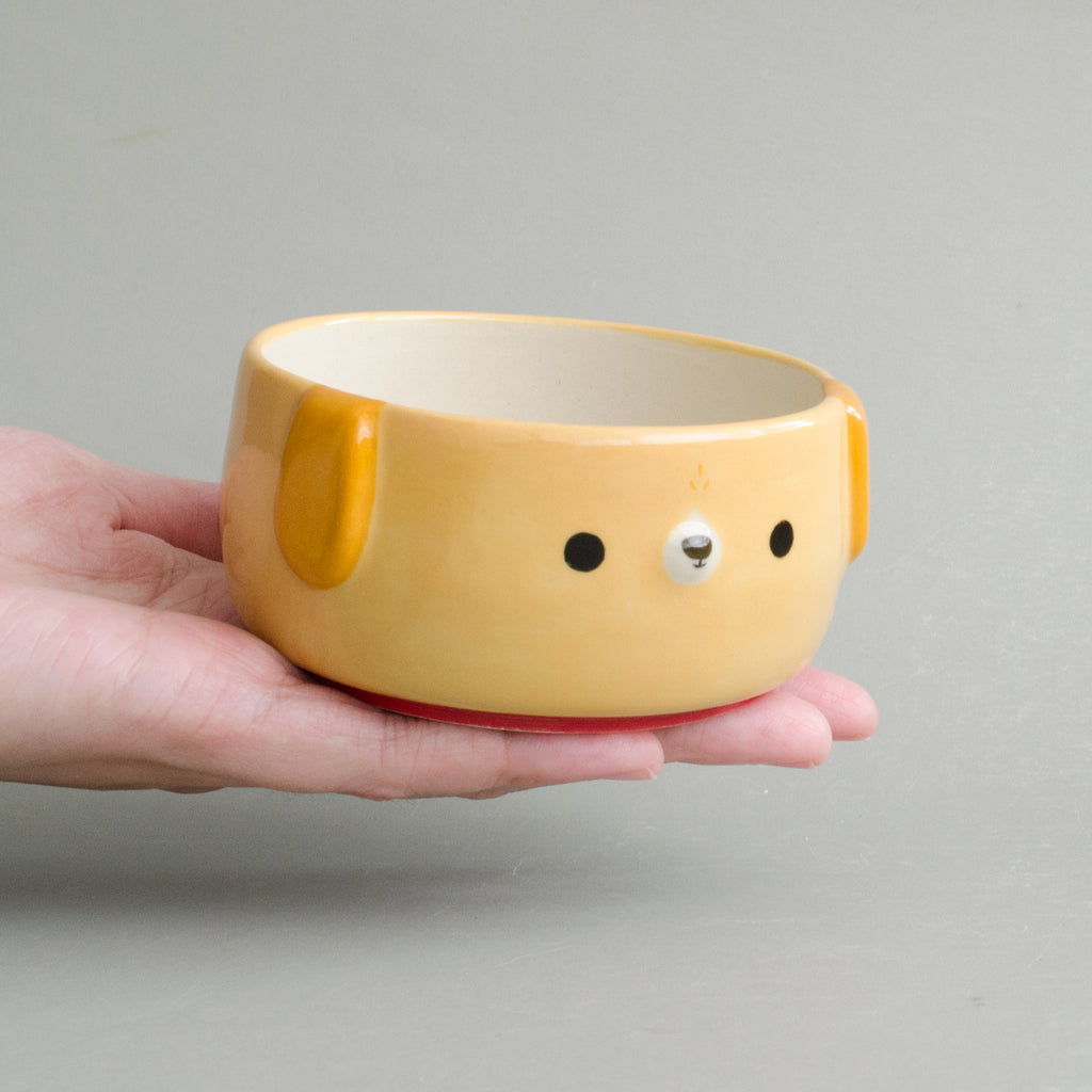 Caramel Pup Small Bowl