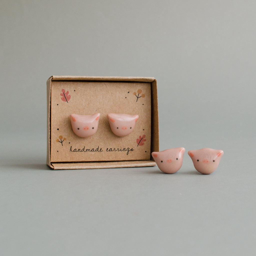 Lil' Piggly Stud Earrings