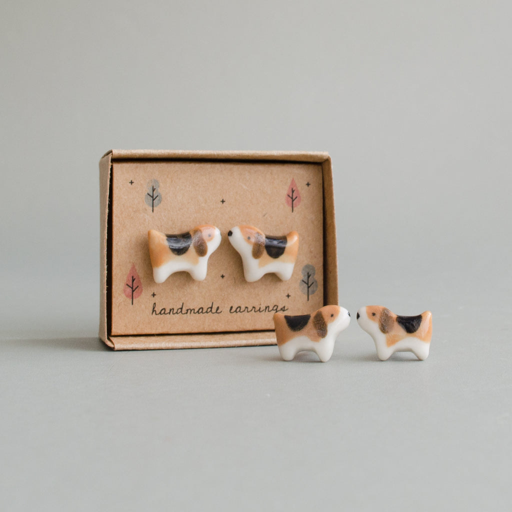 Beagle Pup Stud Earrings