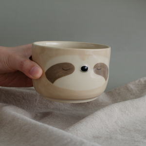 Simple Beige Sloth Cup