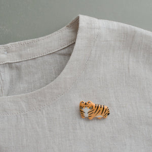 Teeny Tiger Brooch