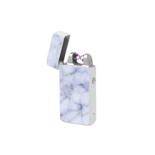 X Lighter Marble Wit – Elektrische USB aansteker
