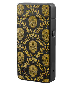 Plazmatic X Lighter Yellow Skull – Elektrische USB aansteker – SILENT TECHNOLOGY