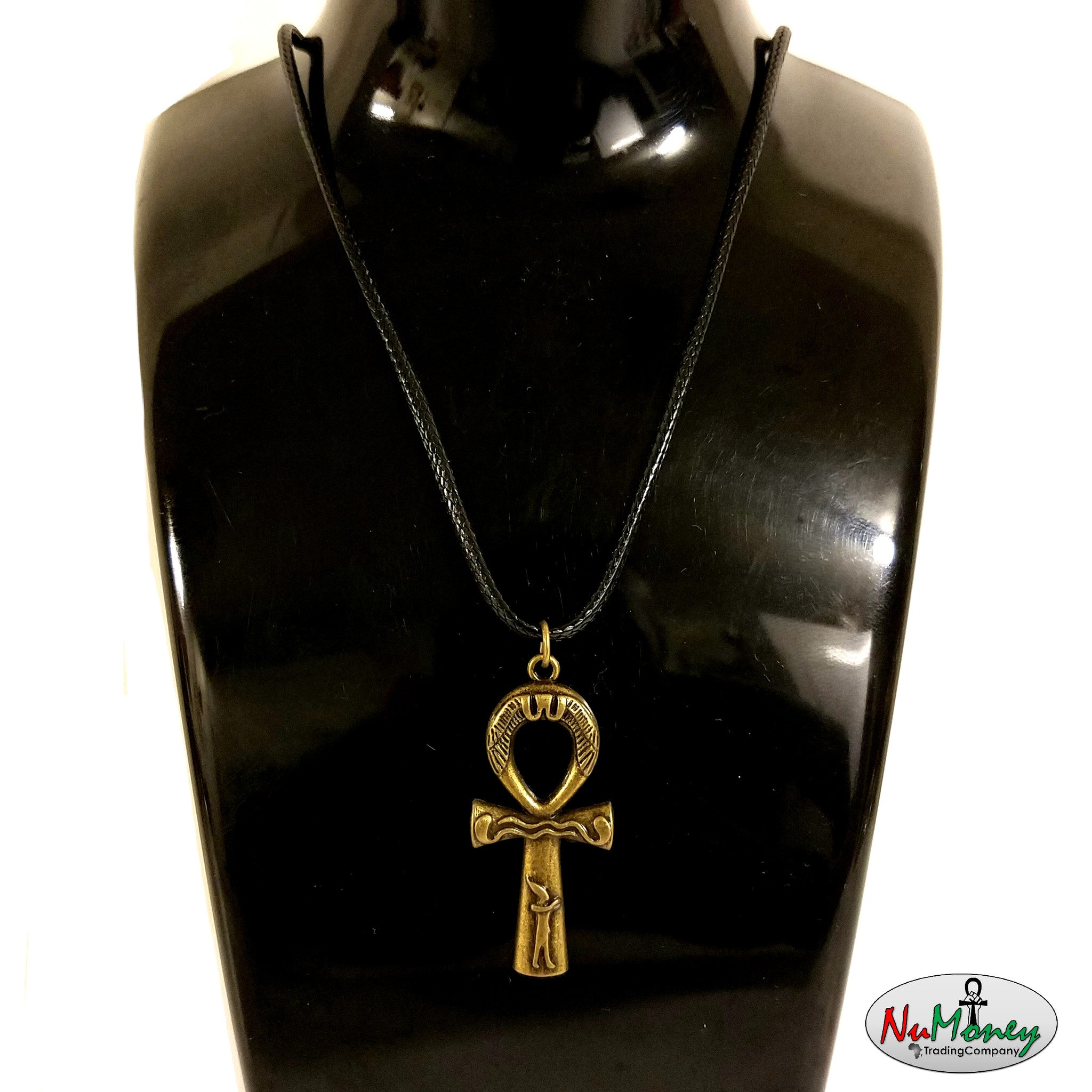 Bronze Mdu Ntr Ankh Rope Necklace