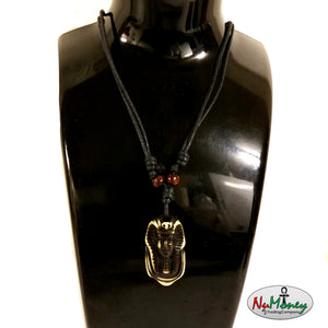 Adjustable Rope Yak Bone Pharaoh Necklace