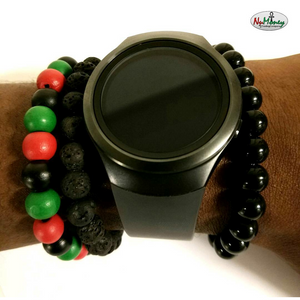 Beaded Red Black & Green (RBG) Bracelet