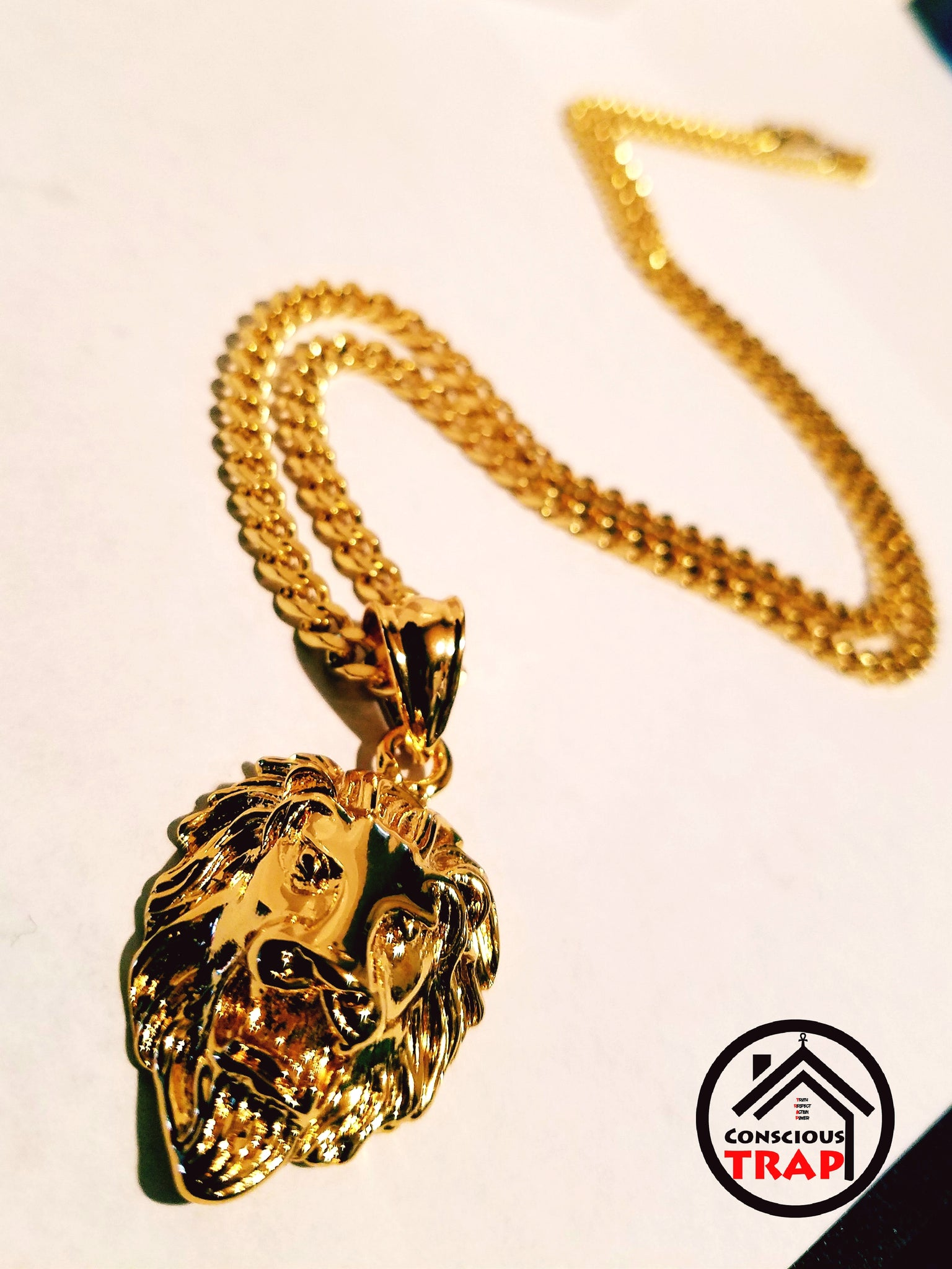 garment chain necklace quarter versus head pendant versace disk lion silver