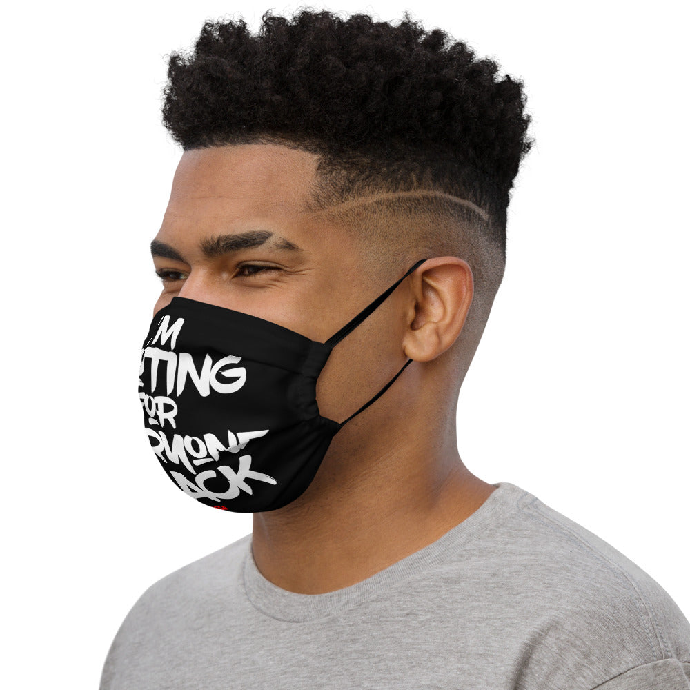 Rooting For Everyone Black Premium Face Mask