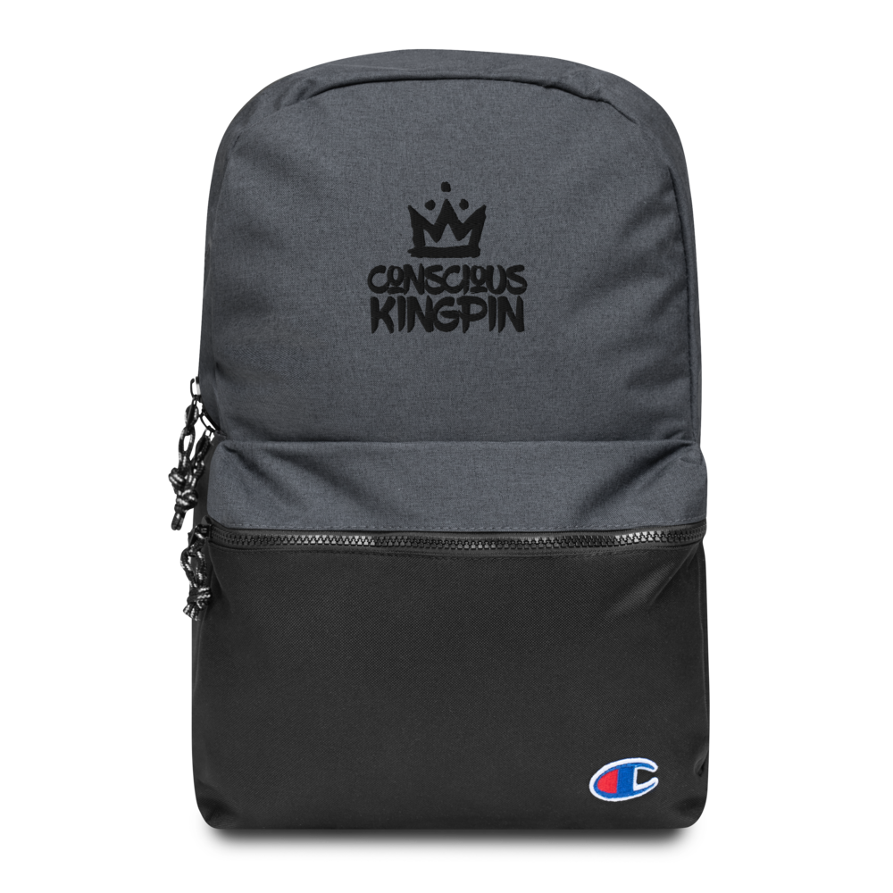 Conscious Kingpin Embroidered Champion Backpack