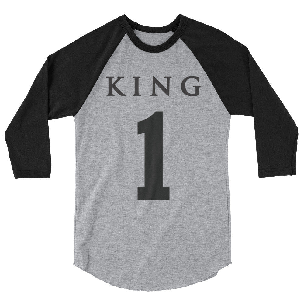 Team Royalty KING Baseball Tee - (Black Print)