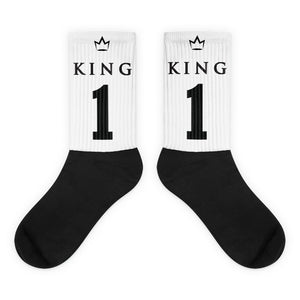 Team Royalty KING Black Foot Socks