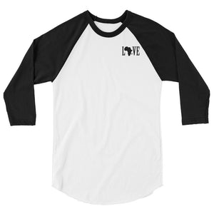 Black Love Baseball Tee - (Black Print)