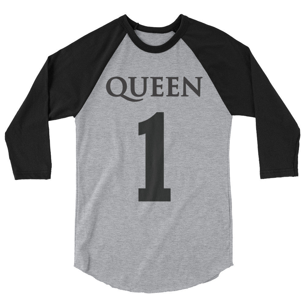 Team Royalty QUEEN Baseball Tee - (Black Print)