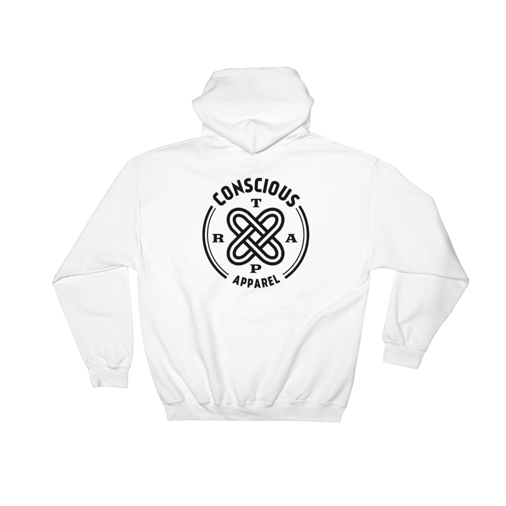 Conscious Trap Adinkra Pockt Logo (Front & Back) Hoodie