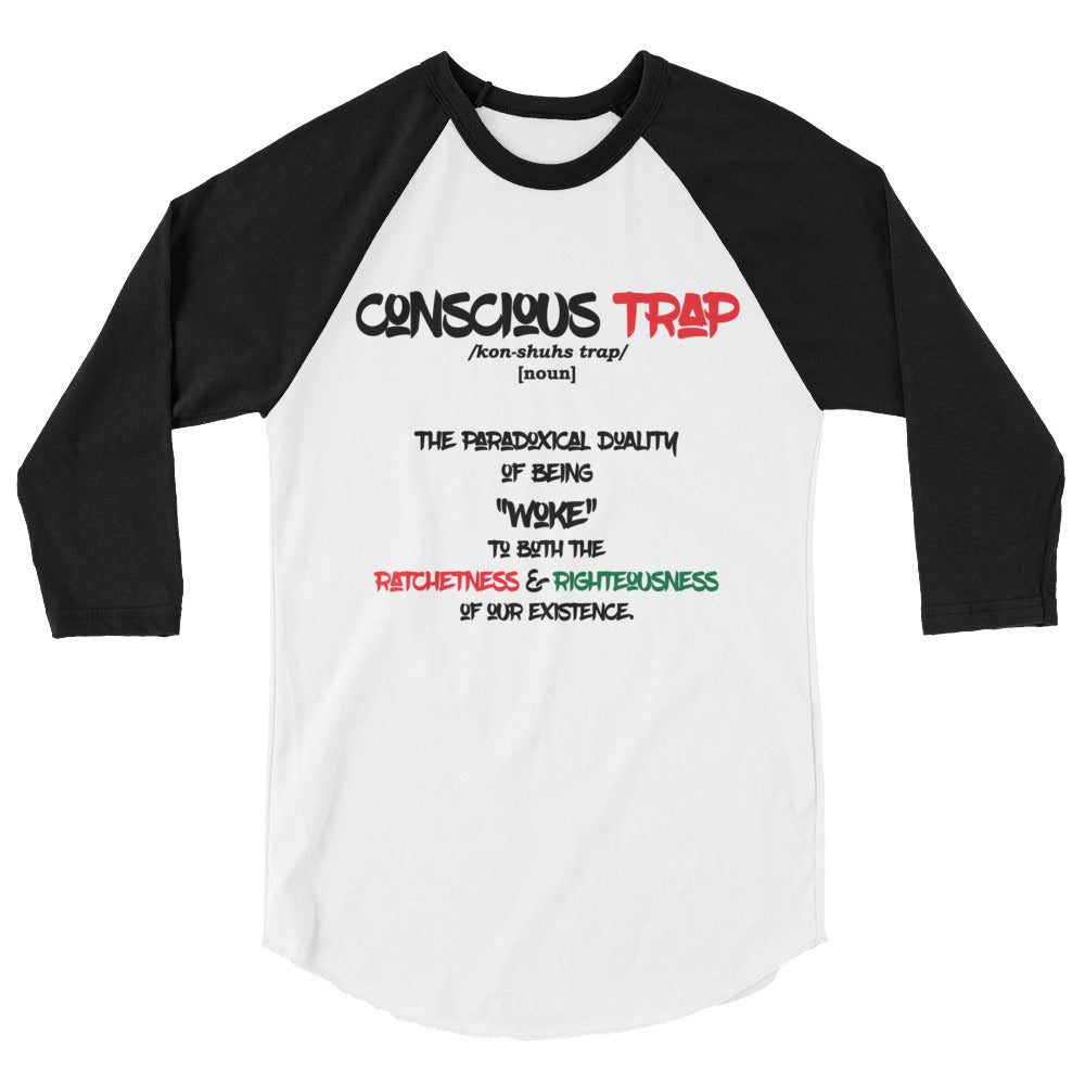 Conscious Trap Definition Baseball Tee