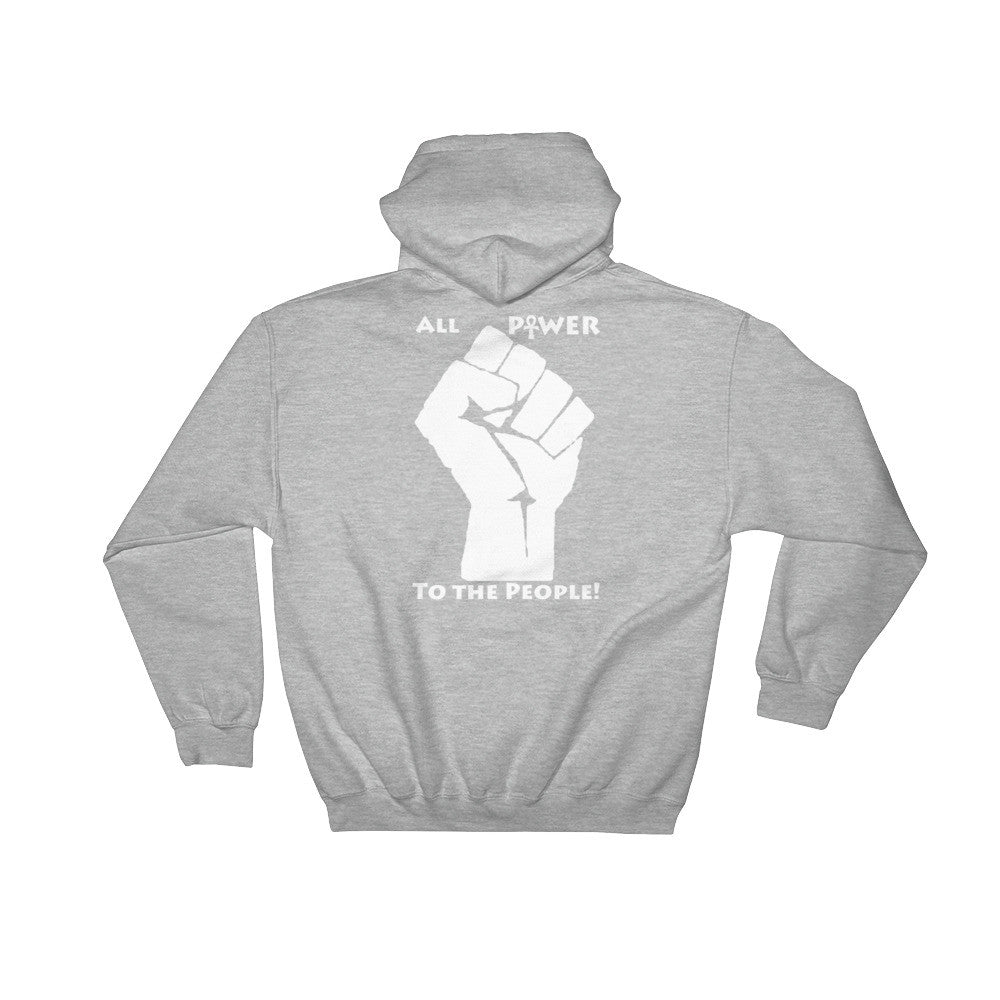 Power Of Black Love Hoodie - (Front & Back, White Print)