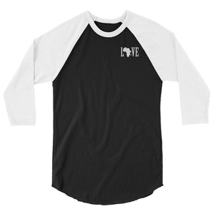 Black Love Baseball Tee - (White Print)