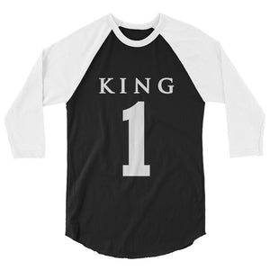 Team Royalty KING Baseball Tee - (White Print)