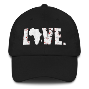 Black LOVE Africa Dad Hat