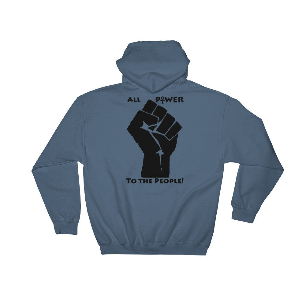 Power Of Black Love Hoodie - (Front & Back, Black Print)
