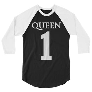 Team Royalty QUEEN Baseball Tee - (White Print)