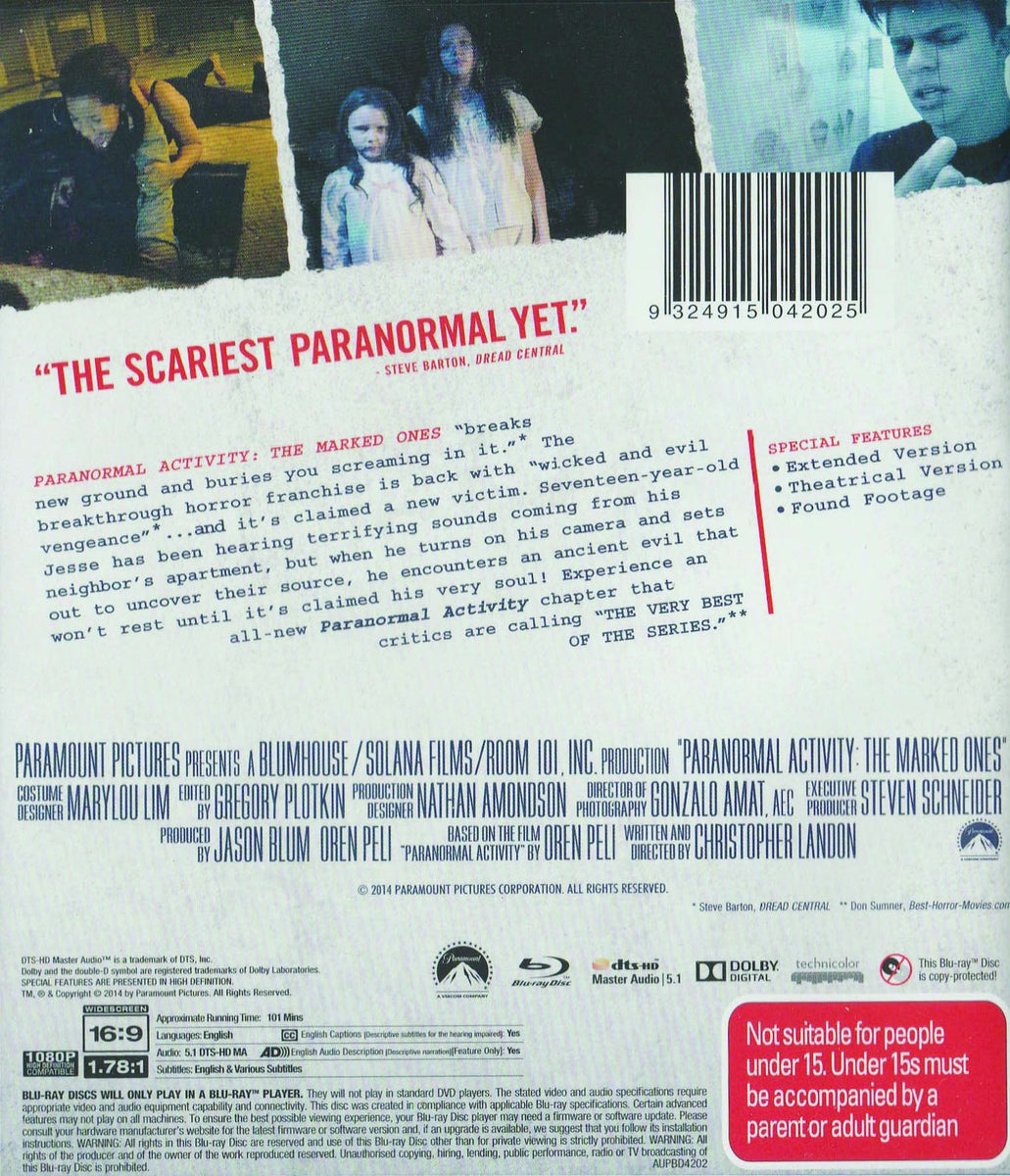 PARANORMAL ACTIVITY: MARKED ONES (EXTENDED EDITION)
