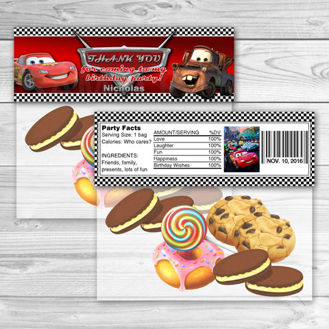 Cars Favor Bag Toppers. Cars Thank You Stickers. Cars Birthday Party Favors. Cars Printables.