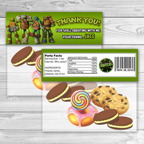 TMNT Ninja Turtles Favor Bag Toppers. TMNT Ninja Turtles Thank You Stickers. TMNT Ninja Turtles Birthday Party Favors. Teenage Mutant Ninja Turtles Printables.