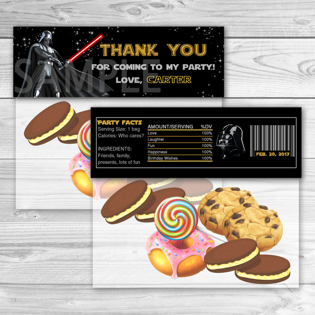 Star Wars Favor Bag Toppers. Star Wars Thank You Stickers. Star Wars Birthday Party Favors. Star Wars Printables.