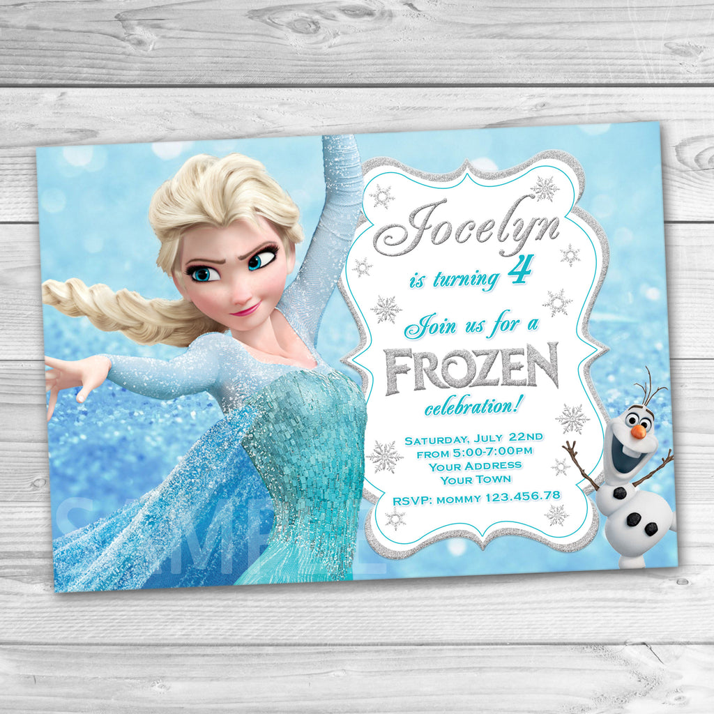 Frozen Invitation, Frozen Birthday Party. Frozen Printable.