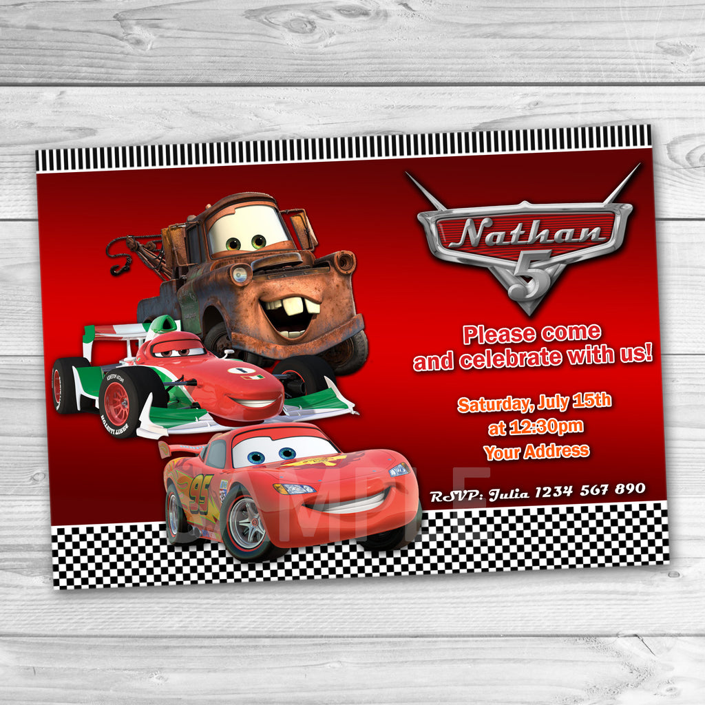 Disney Cars Invitation Disney Cars Printable Disney Cars Birthday