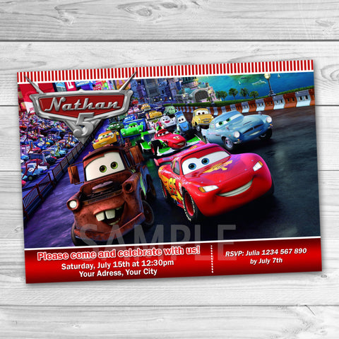All Products Tagged Cars Birthday Card Partyforyoudesigns