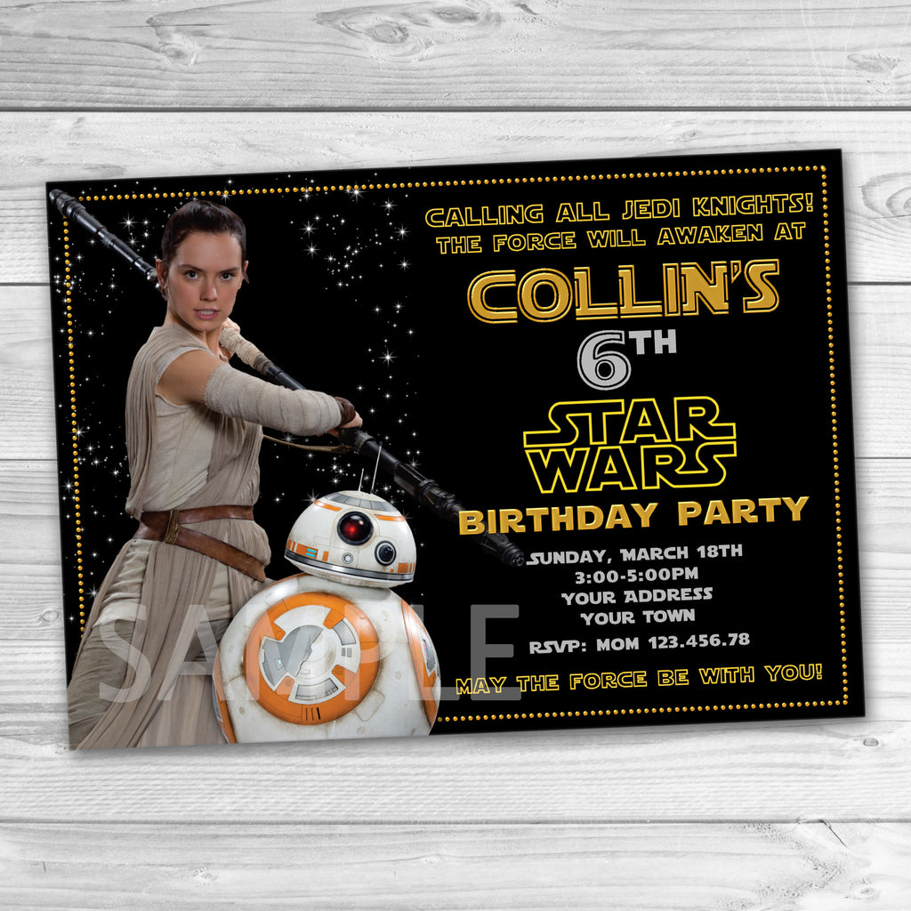 Bb8 party invitation star wars invitation star wars printable bb8 party invitation star wars invitation star wars printable star wars birthday party stopboris Image collections